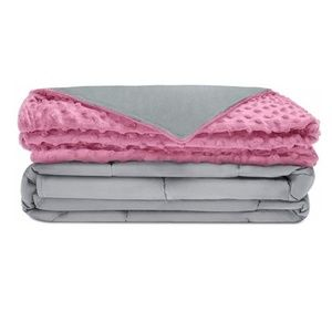 """Other - Weighted Blanket 10 lbs 41""""x 60"""" Pink Gray"""